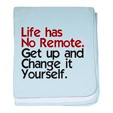 Life Has No Remote baby blanket
