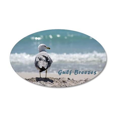 Ring-billed gull 38.5 x 24.5 Oval Wall Peel