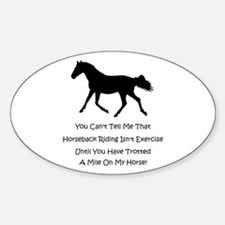 Funny Horse People Humor Decal