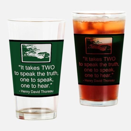 Truth - Thoreau Drinking Glass