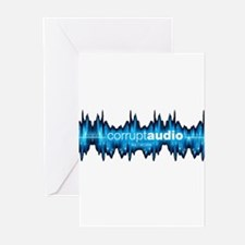 Corrupt Audio Network Logo Greeting Cards