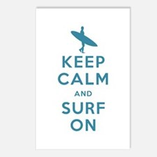 Keep Calm and Surf On Postcards (Package of 8)