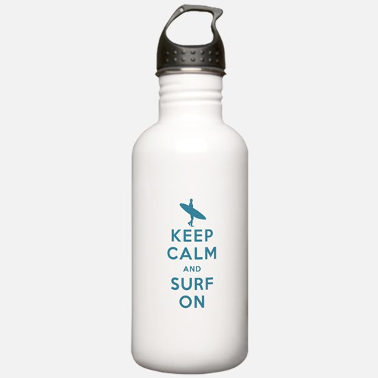 Keep Calm and Surf On Water Bottle