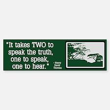Truth - Thoreau Bumper Bumper Sticker