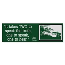 Truth - Thoreau Bumper Sticker