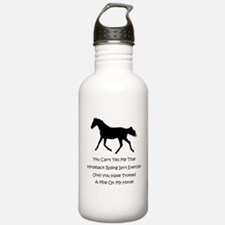 Funny Horse People Humor Water Bottle