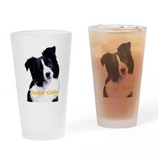 border collie Drinking Glass