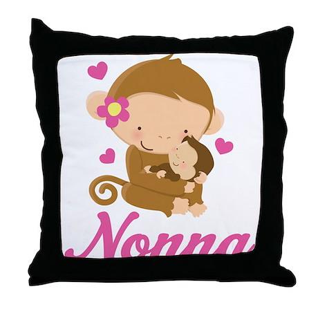 Nonna Monkeys Gift Throw Pillow
