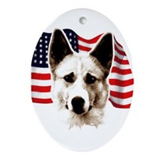 canaan dog Ornament (Oval)