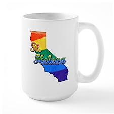 St Helena, California. Gay Pride Mug