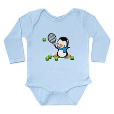 Tennis Penguin (1) Long Sleeve Infant Bodysuit
