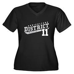 District 11 Design 3 Women's Plus Size V-Neck Dark