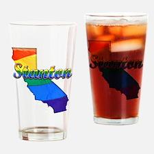Stanton, California. Gay Pride Drinking Glass