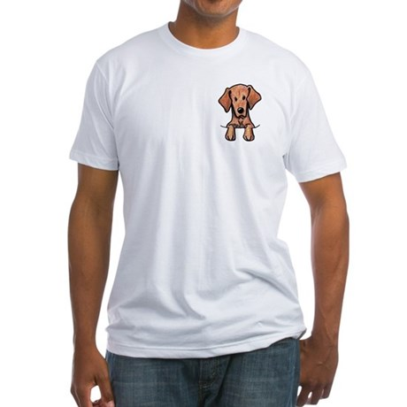 Pocket Vizsla Fitted T-Shirt