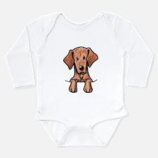 Pocket Vizsla Long Sleeve Infant Bodysuit
