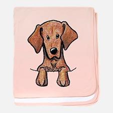 Pocket Vizsla baby blanket