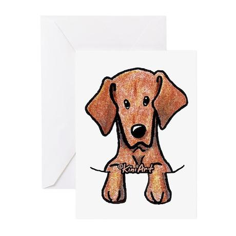 Pocket Vizsla Greeting Cards (Pk of 20)