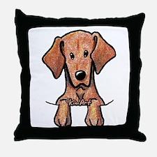 Pocket Vizsla Throw Pillow