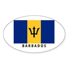 Barbadian Flag (labeled) Decal