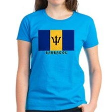 Barbadian Flag (labeled) Tee