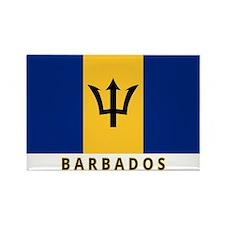 Barbadian Flag (labeled) Rectangle Magnet