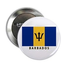 """Barbadian Flag (labeled) 2.25"""" Button"""