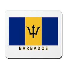 Barbadian Flag (labeled) Mousepad