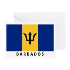 Barbadian Flag (labeled) Greeting Card