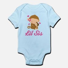 Little Sis Monkey Infant Bodysuit