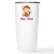 New Mom Monkey Gift Ceramic Travel Mug