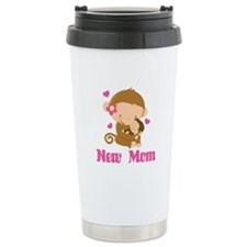 New Mom Monkey Gift Travel Mug