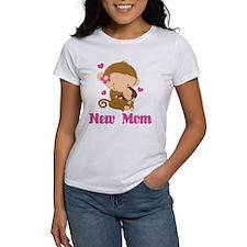 New Mom Monkey Gift Tee