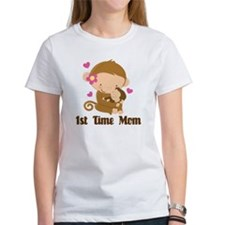 1st Time Mom Monkey Gift Tee