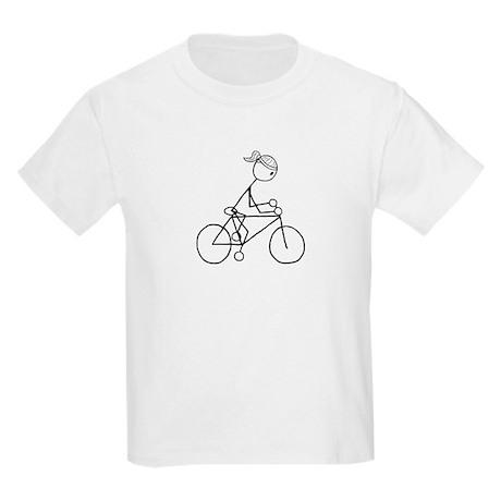Biking Girl-Black Kids Light T-Shirt