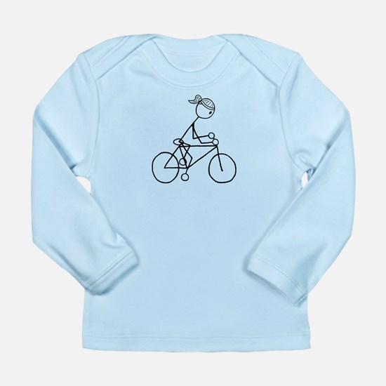 Biking Girl-Black Long Sleeve Infant T-Shirt
