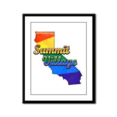 Summit Village, California. Gay Pride Framed Panel