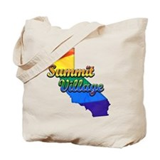 Summit Village, California. Gay Pride Tote Bag