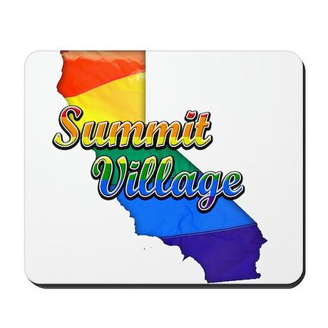Summit Village, California. Gay Pride Mousepad