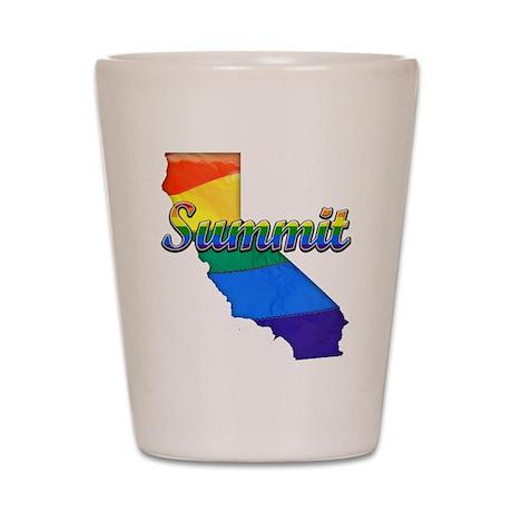Summit, California. Gay Pride Shot Glass