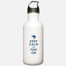 Keep Calm and Fish On Sports Water Bottle