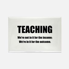 Teacher Outcome Rectangle Magnet (100 pack)