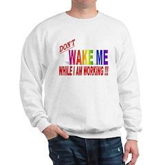 Don't wake me while I am work Sweatshirt