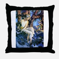 Princess and the Gnomes Throw Pillow