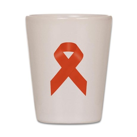 Orange Awareness Ribbon Shot Glass