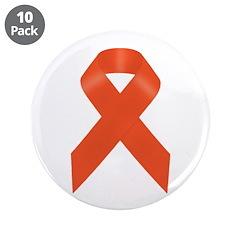 Orange Awareness Ribbon 3.5