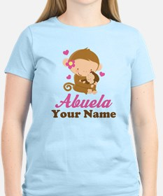 Personalized Abuela Monkeys T-Shirt