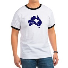 aussie_roo_blue_white-T T-Shirt