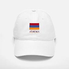 Armenia Flag & Word Baseball Baseball Cap