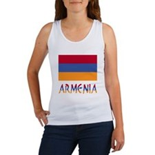 Armenia Flag & Word Women's Tank Top