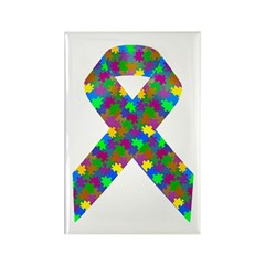 Puzzle (Autism) Awarene Rectangle Magnet (10 pack)